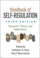 Cover image for HANDBOOK OF SELF-REGULATION : RESEARCH, THEORY, AND APPLICATIONS