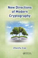 Cover image for New directions of modern cryptography