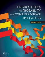 Cover image for Linear algebra and probability for computer science applications