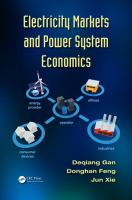 Cover image for Electricity markets and power system economics