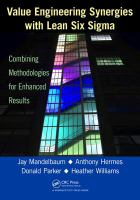 Cover image for Value engineering synergies with lean six sigma : combining methodologies for enhanced results