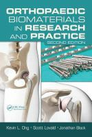 Cover image for Orthopaedic biomaterials in research and practice