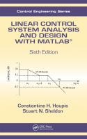 Cover image for Linear control system analysis and design with MATLAB