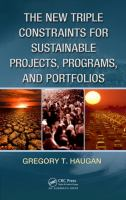 Cover image for The new triple constraints for sustainable projects, programs, and portfolios
