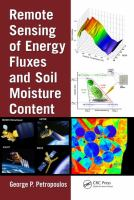 Cover image for Remote sensing of energy fluxes and soil moisture content