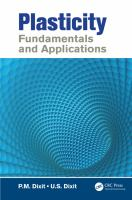 Cover image for Plasticity :  fundamentals and applications