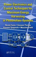 Cover image for Power electronics and control techniques for maximum energy harvesting in photovoltaic systems