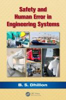 Cover image for Safety and human error in engineering systems