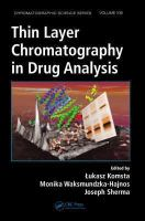 Cover image for Thin layer chromatography in drug analysis