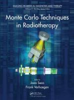 Cover image for Monte carlo techniques in radiation therapy