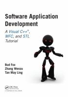 Cover image for Software application development : a visual C++, MFC, and STL tutorial