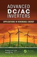 Cover image for Advanced DC/AC inverters : applications in renewable energy