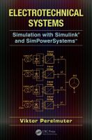 Cover image for Electrotechnical systems simulation with Simulink® and SimPowerSystems