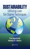Cover image for Sustainability : utilizing lean Six Sigma techniques