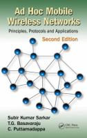 Cover image for Ad hoc mobile wireless networks : principles, protocols, and applications
