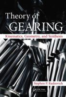 Cover image for Theory of gearing : kinematics, geometry, and synthesis
