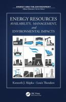 Cover image for Energy resources : availability, management, and environmental impacts