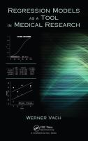 Cover image for Regression models as a tool in medical research