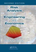 Cover image for Risk analysis in engineering and economics