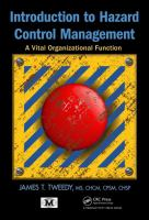 Cover image for Introduction to hazard control management : a vital organizational function