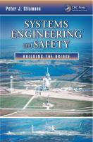 Cover image for Systems engineering and safety : building the bridge