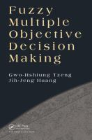 Cover image for Fuzzy multiple objective decision making