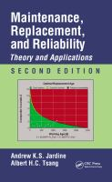 Cover image for Maintenance, replacement, and reliability : theory and applications