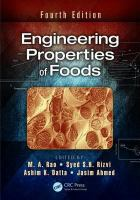 Cover image for Engineering properties of foods