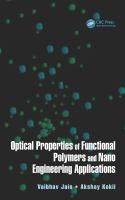 Cover image for Optical properties of functional polymers and nano engineering applications