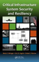 Cover image for Critical infrastructure system security and resiliency