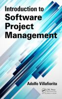 Cover image for Introduction to software project management