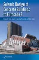 Cover image for Seismic Design of Concrete Buildings to Eurocode 8