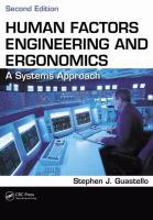Cover image for Human factors engineering and ergonomics : a systems approach