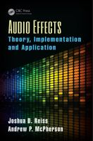 Cover image for Audio effects : theory, implementation and application