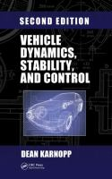 Cover image for Vehicle dynamics, stability, and control