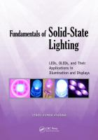 Cover image for Fundamentals of solid-state lighting : LEDs, OLEDs, and their applications in illumination and displays