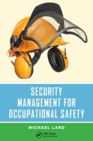 Cover image for Security management for occupational safety