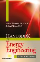Cover image for Handbook of energy engineering