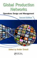 Cover image for Global production networks : operations design and management