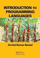 Cover image for Introduction to programming languages