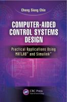 Cover image for Computer-aided control systems design : practical applications using MATLAB® and simulink®