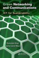 Cover image for Green networking and communications : ICT for sustainability