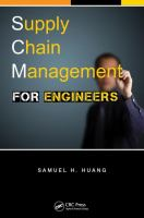 Cover image for Supply chain management for engineers