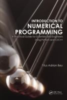 Cover image for Introduction to numerical programming : a practical guide for scientists and engineers using Python and C/C++