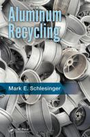 Cover image for Aluminum recycling