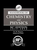 Cover image for CRC handbook of chemistry and physics : a ready-reference book of chemical and physical data