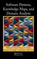 Cover image for Software patterns, knowledge maps, and domain analysis