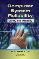 Cover image for Computer system reliability : safety and usability