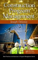 Cover image for Construction program management