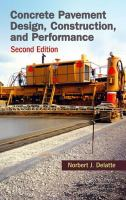 Cover image for Concrete pavement design, construction, and performance